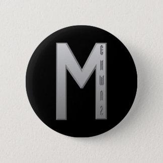 Ehwaz Rune grey 6 Cm Round Badge