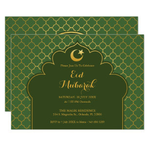 Eid cards invitations zazzle eid celebration party invitation morrocan pattern stopboris Image collections