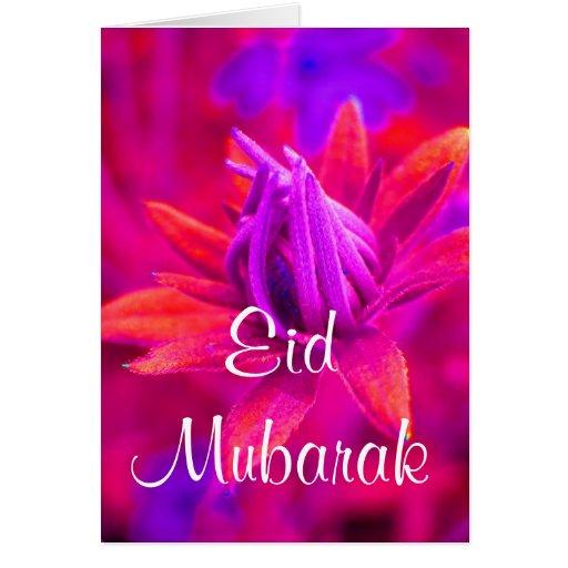 Eid mubarak floral greeting card cards