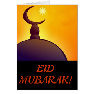 Eid Mubarak - Happy EID - Muslim Holiday Card