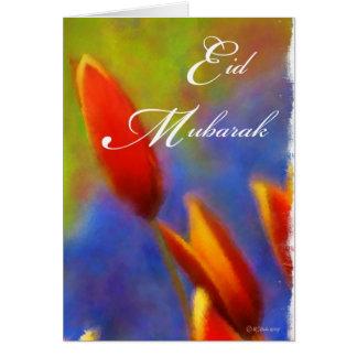 Eid Mubarak- Tulip Buds Card