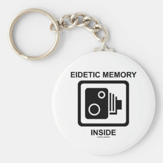 Eidetic Memory Inside (Camera Sign Photographic) Basic Round Button Key Ring
