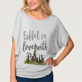 eiffel in love with paris cute funny t-shirt