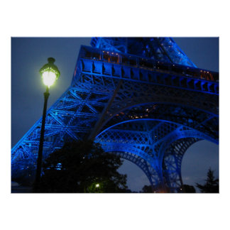 eiffel tour at night poster