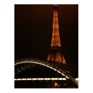 Eiffel Tower Across The Seine Postcard