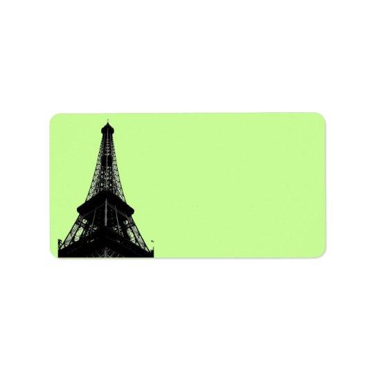Eiffel Tower Address Label