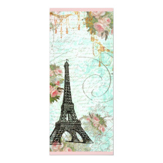 Eiffel Tower and Pink Roses Card