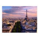Eiffel Tower and purple Cloudscape Postcard