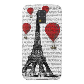 Eiffel Tower and Red Hot Air Balloons Galaxy S5 Covers