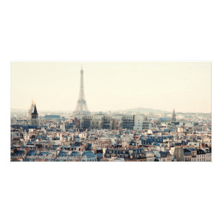 Eiffel Tower and roofs of Paris Customized Photo Card