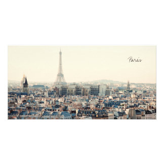 Eiffel Tower and roofs of Paris Picture Card