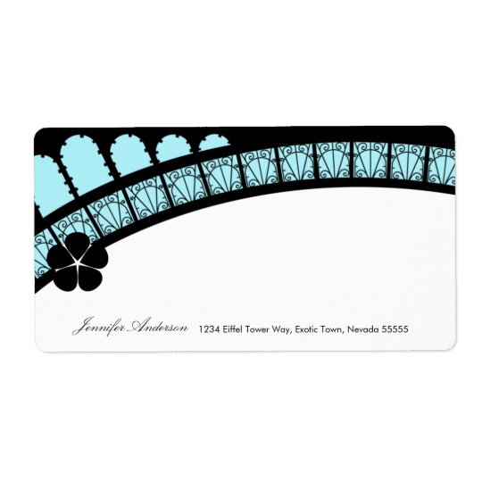 Eiffel Tower Arch Mailing Label Shipping Label