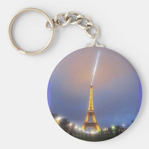 Eiffel Tower At Dusk Key Chains