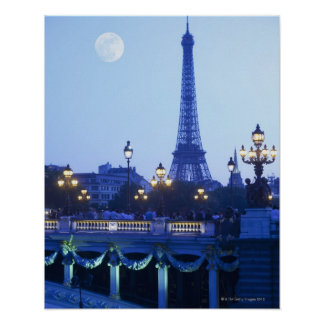 Eiffel Tower at Dusk Poster