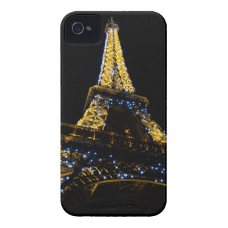 Eiffel Tower at Night iPhone 4 Case-Mate Cases