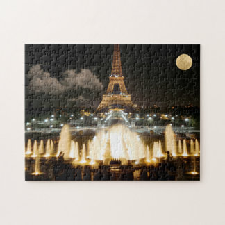 Eiffel Tower at Night Jigsaw Puzzle