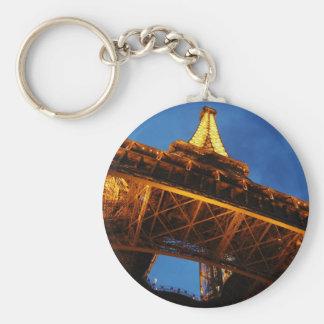 Eiffel Tower at Night Key Ring