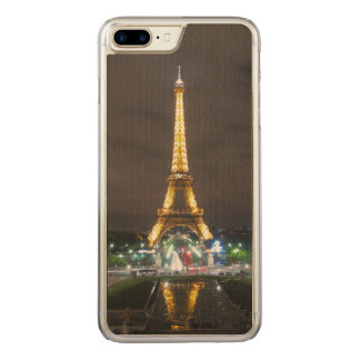 Eiffel Tower at Night, Paris Carved iPhone 8 Plus/7 Plus Case
