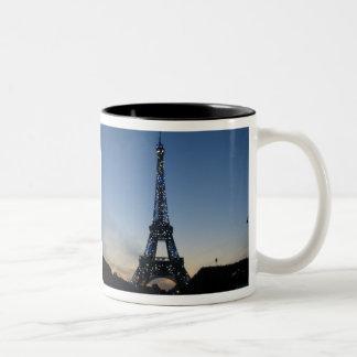 Eiffel Tower at sundown Mug