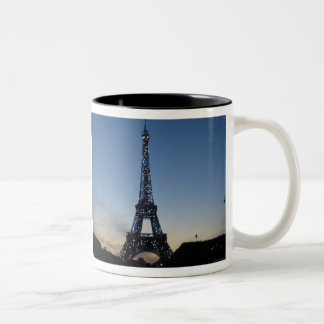 Eiffel Tower at sundown Two-Tone Coffee Mug