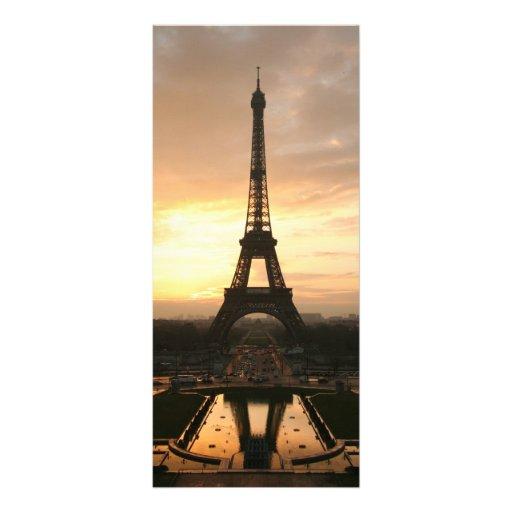 Eiffel Tower at Sunrise from the Trocadero Custom Rack Card