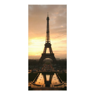 Eiffel Tower at Sunrise from the Trocadero Rack Card Design