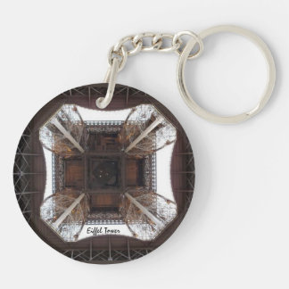 Eiffel Tower(Base)-Circle (double-sided) Keychain