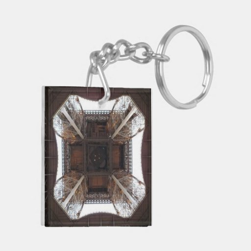 Eiffel Tower Base - Square (double-sided) Keychain