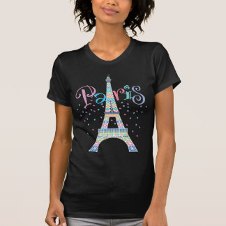 Eiffel Tower black t-shirt