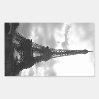 Eiffel Tower Black tone Rectangular Sticker