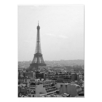Eiffel Tower (Black & White) Photo Print