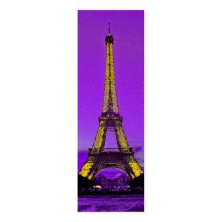 Eiffel tower business card templates
