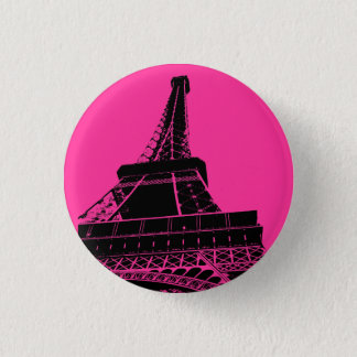Eiffel Tower Button in Pink