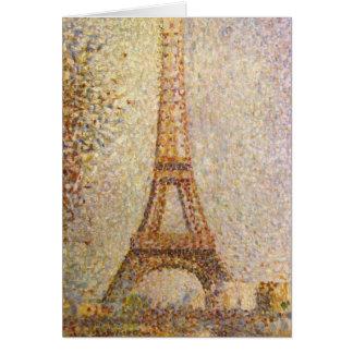 Eiffel Tower by Georges Seurat, Vintage Fine Art Card