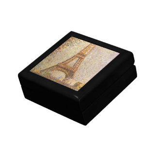 Eiffel Tower by Georges Seurat, Vintage Fine Art Small Square Gift Box