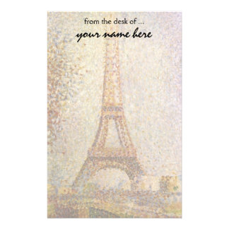 Eiffel Tower by Georges Seurat, Vintage Fine Art Stationery Design