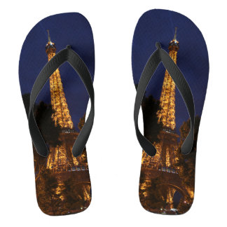 Eiffel Tower by Night in Paris FlipFlop