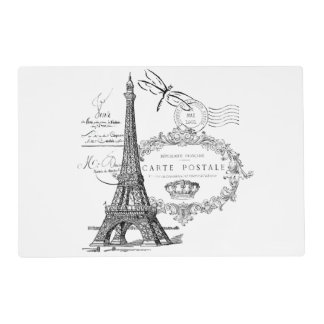 Eiffel tower collage placemat