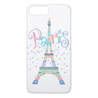 Eiffel Tower Confetti iPhone 7 Plus Barely There iPhone 8 Plus/7 Plus Case