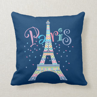 Eiffel Tower Confetti Pillow