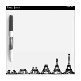 Eiffel Tower Construction Dry Erase Board