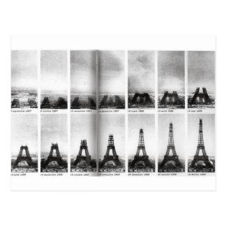 Eiffel Tower Construction Postcard