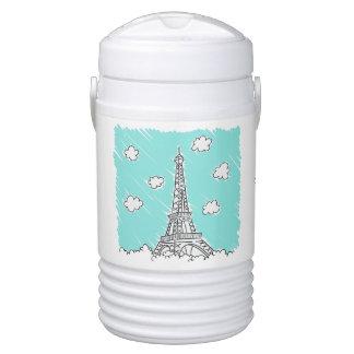 Eiffel Tower custom name beverage coolers Drinks Cooler
