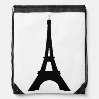 Eiffel Tower Drawstring Backpack