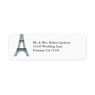 Eiffel Tower Elegant Avery Label