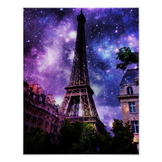 Eiffel Tower Fantasy Poster