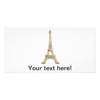 Eiffel tower, France clipart Photo Card Template