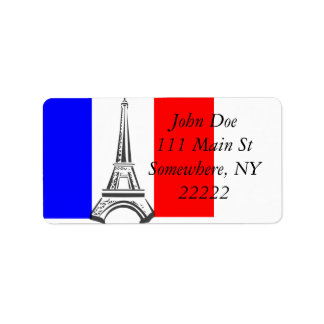 Eiffel Tower France Label