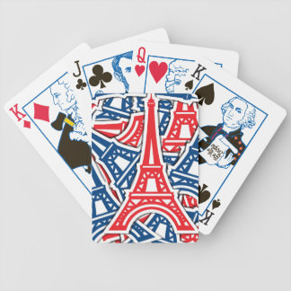 Eiffel Tower, France Pattern Bicycle Playing Cards