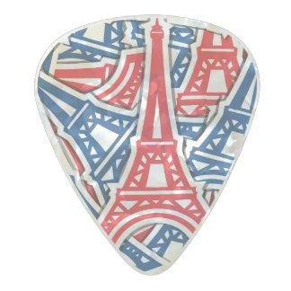 Eiffel Tower, France Pattern Pearl Celluloid Guitar Pick